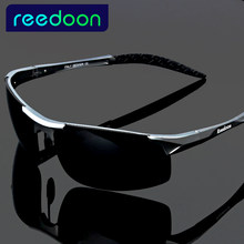 2017 polarized Men's sunglasses aluminum magnesium frame car driving sunglasses men sports for fishing golf 8177(China)