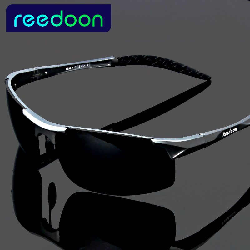 2017 lunettes de soleil polarisées pour hommes en aluminium magnésium cadre voiture conduite lunettes de soleil hommes sports pour pêche golf 8177