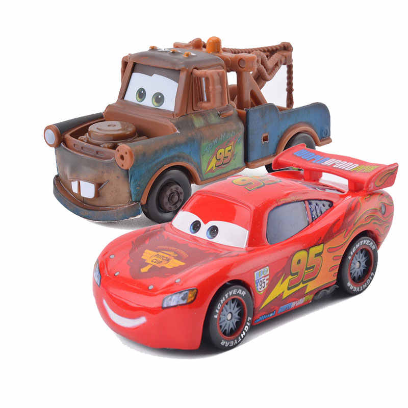 Disney Pixar Cars 2 Lightning Mcqueen And Mater Best Friends Combination 1 55 Alloy Toy Vehicle Children Educational