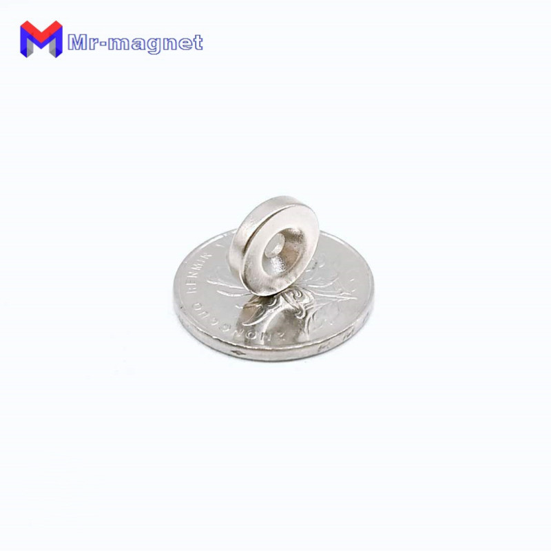 Купить с кэшбэком 100pcs 12x3 hole: 3mm magnet countersunk ring 12x3-3 magnets 12mmx3mm Hole: 3mm rare earth N35 12*3 hole 3mm magnet 12x3-3mm