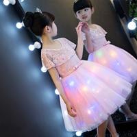 2017New Luxury Korean Sweet Children Girls Princess Dress For Party Dreaming Lantern Decoration Wedding Birthday Dress For Kids
