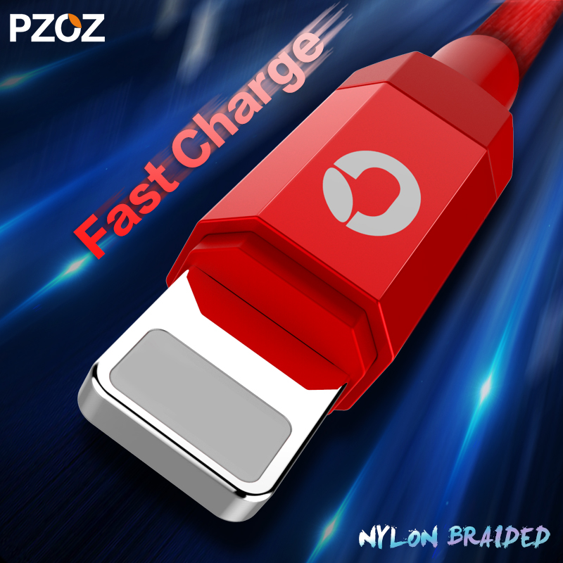 Pzoz Data Cable For iPhone Charger Lights