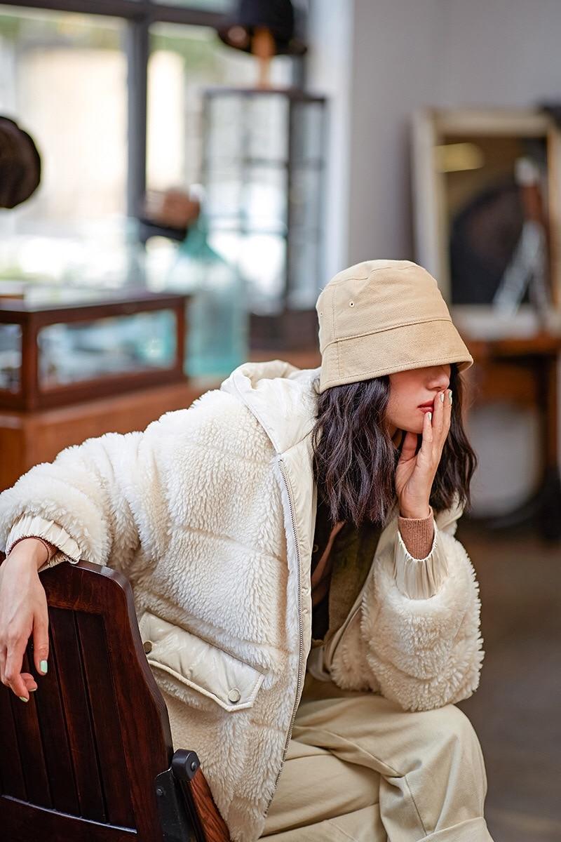2019 Teddy Automne Oversize Manteau Survêtement Veste D'agneau Hiver En Originale Blanc Chaud Lâche Noël Et Laine Conception De blanc Rouge Gloria Grâce rFTqdrxw