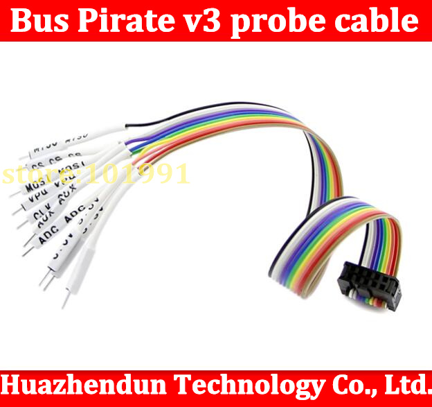 Bus Pirate v3 probe cable ribbon cable pirate attack