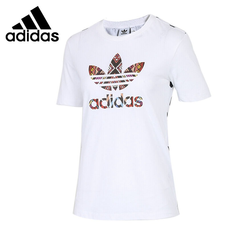 Original New Arrival 2018 Adidas Originals FARM TEE Women's T-shirts short sleeve Sportswear patchwork short sleeve henley tee