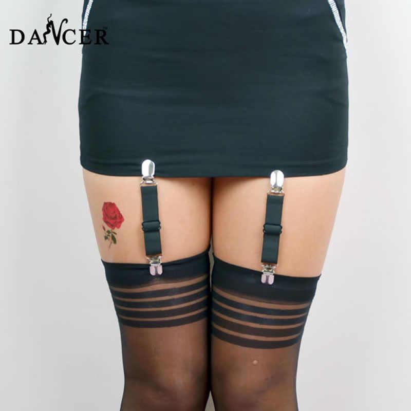 Harajuku панк-подвязка пояс клетка для ног подвязка на бедро Фетиш сексуальный подвязка пояс металлические зажимы чулки подтяжки женский пояс P0088