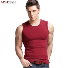 2018 Fashion Brand Men's 100% Cotton O-Neck Tank Tops Summer Male Sleeveless V-Neck Vest Solid Color Casual Korean Slim Tops(China)
