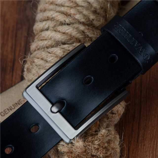 COWATHER 2019 men belt cow genuine leather luxury strap male belts for men new fashion classic vintage pin buckle dropshipping 1