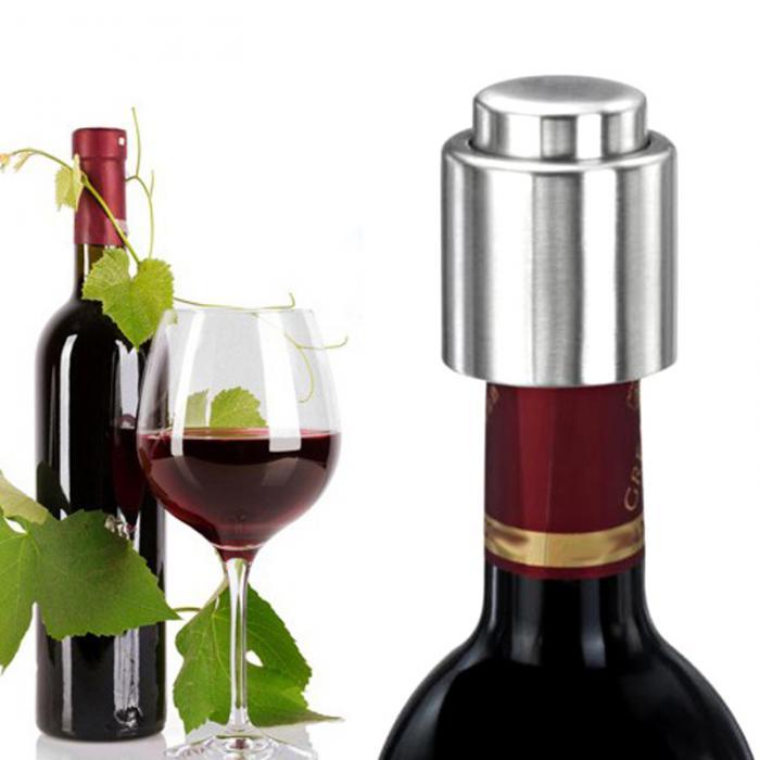 Stainless Steel Red Wine Vacuum Sealed Wine Storage Bottle Stopper Plug Cap QX