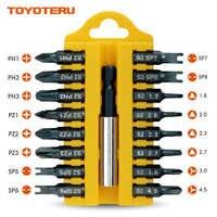 Puntas de destornillador xiaoteru magnéticas de 17 piezas S2 (D) | puntas triangulares tipo Y de Pozidrive tipo Y