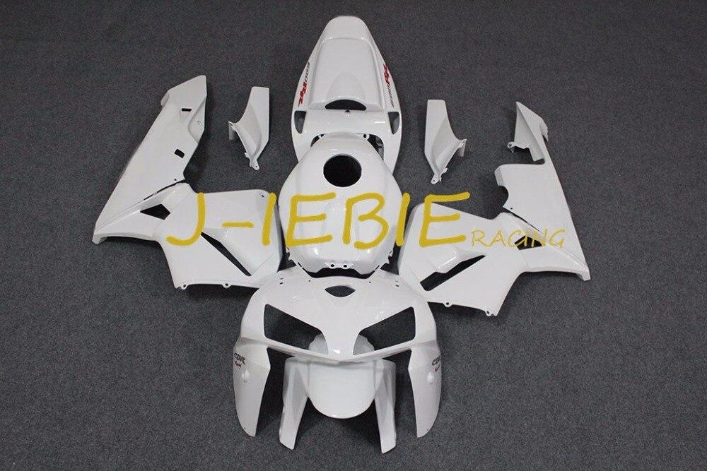 White Injection Fairing Body Work Frame Kit for HONDA CBR600RR CBR 600 CBR600 RR F5 2005 2006