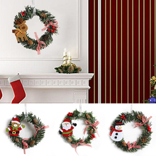 1 pcs/lot Christmas Snowman deer Fabric art Garland Cane wreath Rattan wreath party decoration Christmas Ornaments