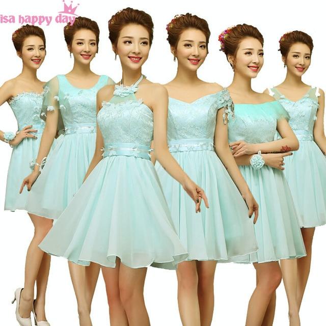 c326baeade cheap short top light blue semi formal boat neck chiffon bridal party robes evening  dresses summer