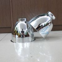 2 Pieces Aluminum Cup Aluminum Lens Hood Cover MASK OF PROJECTOR LENS SHROUD For Car Headlight