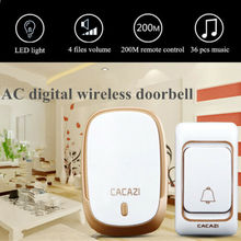 Wireless Electric Doorbell Twin Wall Plug In Cordless Ring D