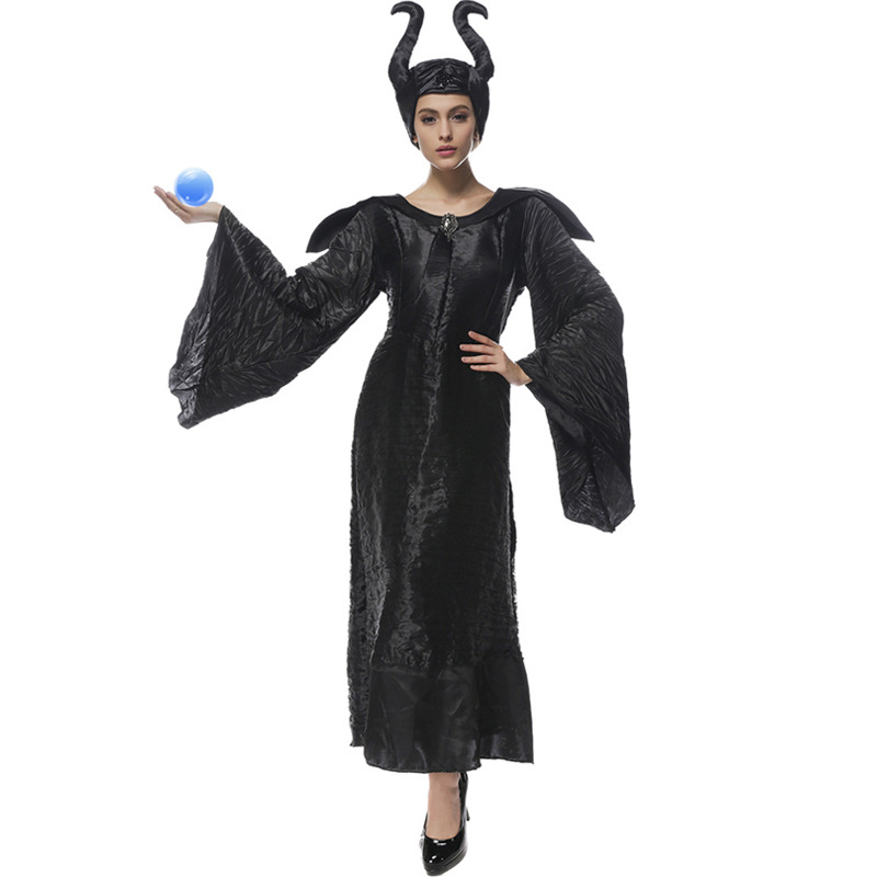 Us 13 86 27 Off Halloween Evil Witch Maleficent Costume Sleeping Beauty Carnival Cosplay Outfit Adult Women Dark Queen Fantasia Fancy Dress In Movie