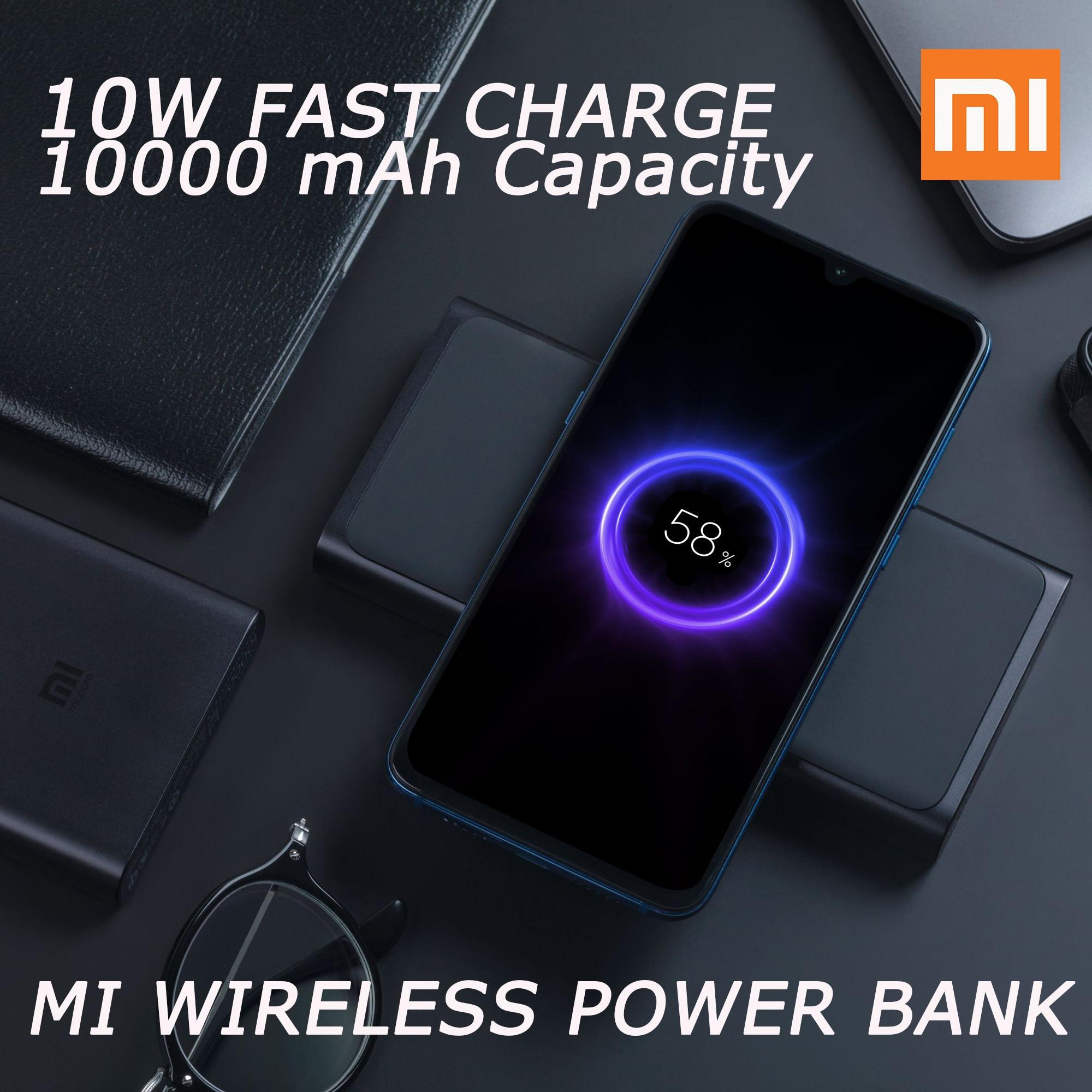 En Stock 2019 nouvelle batterie externe sans fil Xiaomi 10.000 mAh 10 W/18 W Portable pour iPhone Samsung Protection des objets étrangers