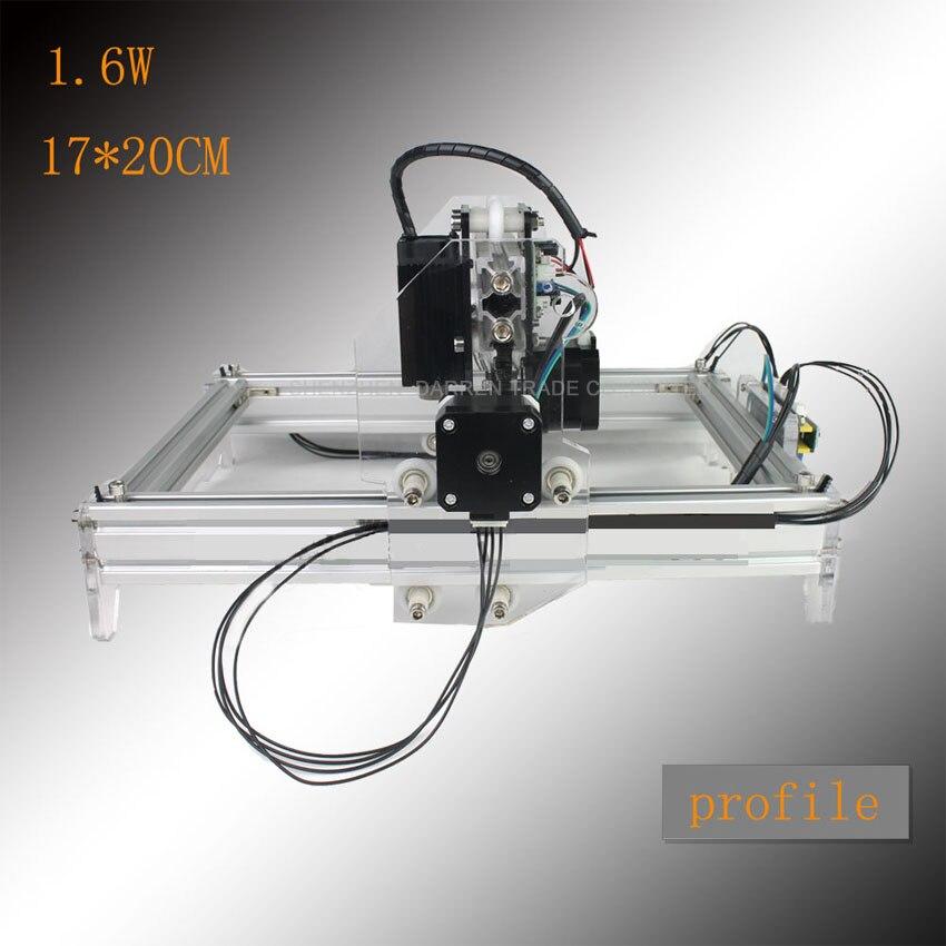 1.6 W bricolage mini machine de gravure laser machine de marquage laser machine de gravure gravure graphique 17*20 CM