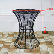 Metal Wrought Iron Tea Table Simple and Modern Solid Iron Round Table Living Room Creative Coffee Table