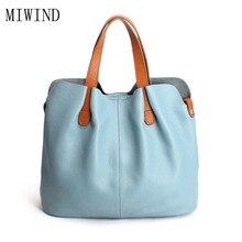 Women Handbag Genuine Leather Tote Shoulder Bag Bucket Big Casual Tote Designer Ladies Handbag Satchel Bolsos Mujer TLF132