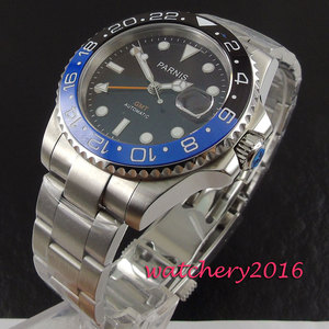 Image 5 - 新 40 ミリメートルパーニスブラックセラミックサファイアガラス日付調整 GMT 自動ムーブメントメンズビジネス腕時計