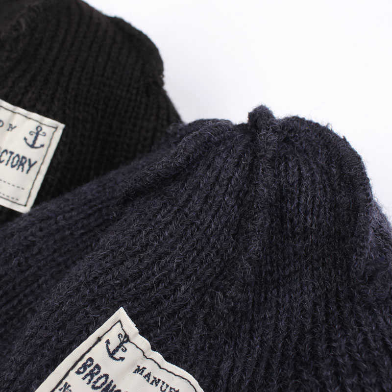 e9c2926ecf9 ... USN WATCH CAP 80% Wool WW2 Replica Winter Warm Knit Thick Cap Vintage  Military Outdoor ...