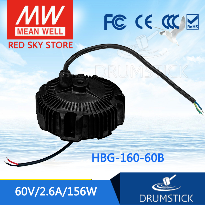 все цены на Hot sale MEAN WELL HBG-160-60B 60V 2.6A meanwell HBG-160 60V 156W Single Output LED Driver Power Supply онлайн