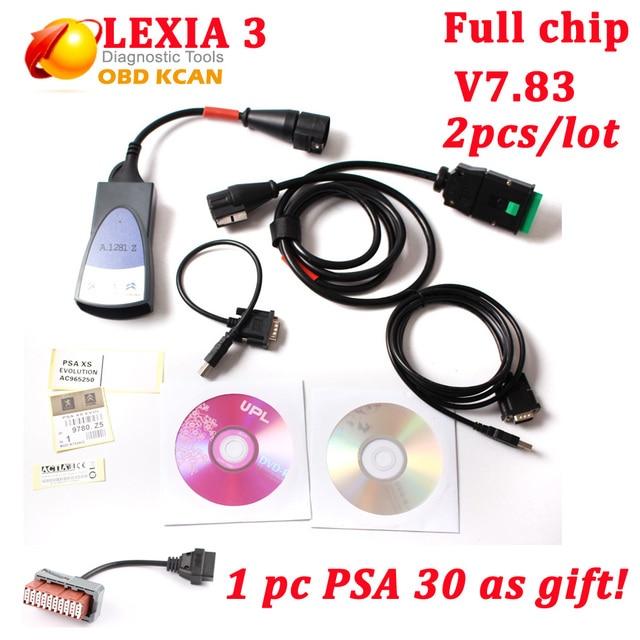 2 pcs/lot Diagbox V7.83 full chip lexia3 with 921815C Lexia3 PP2000 Lexia 3 V48 diagnostic tool for Citroen PSA as gift DHL ship