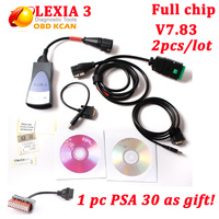 2pcs/lot Diagbox V7.83 full chip lexia3 with 921815C Lexia 3 PP2000 Lexia 3 V48 diagnostic tool for Citroen PSA as gift DHL ship