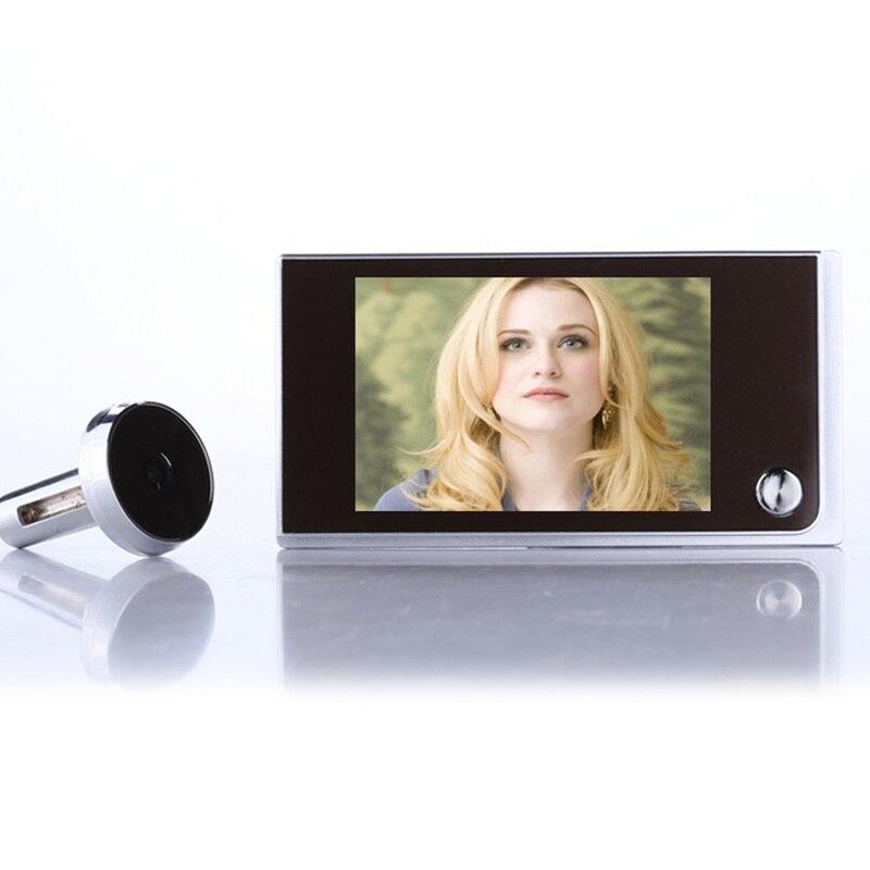 Mini aire libre multifunción casa Security3.5inch 720 p LCD en Color TFT Digital memoria puerta mirilla visor timbre cámara de seguridad