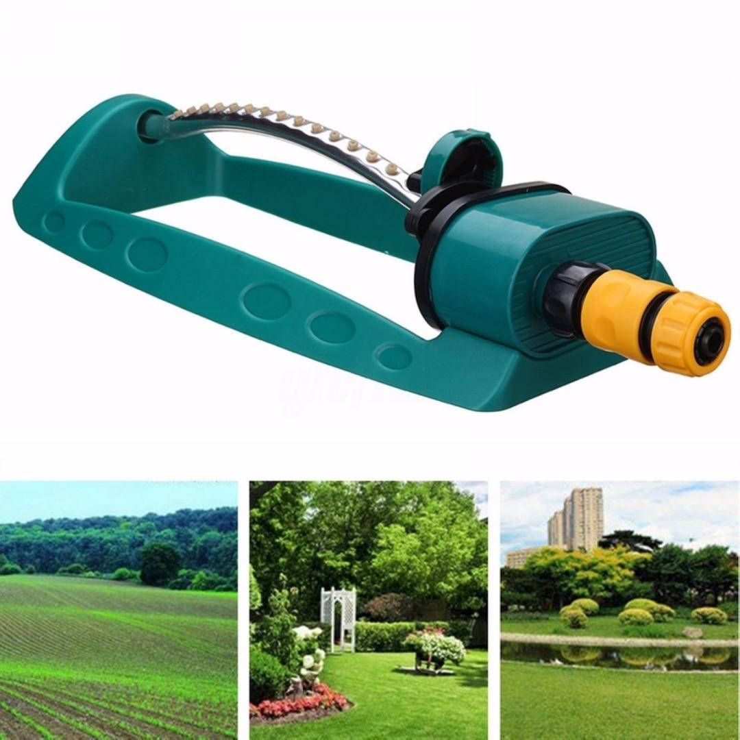 15 Holes Adjustable Alloy Watering Sprinkler Sprayer Oscillating Oscillator Lawn Garden Irrigation Tools