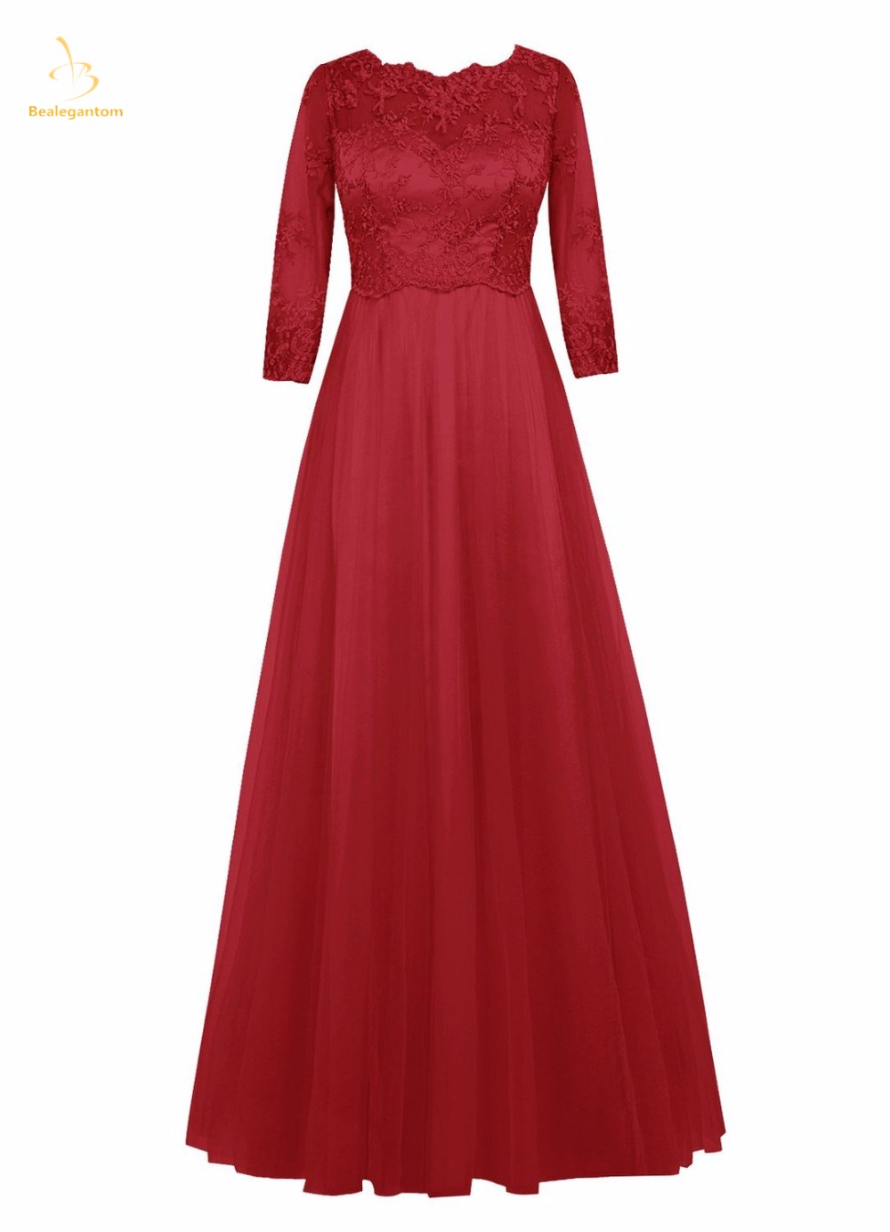 Bealegantom 2019 New A-Line Chiffon   Prom     Dresses   Beaded Plus Size Formal Evening Party Gowns Vestido Longo QA1444