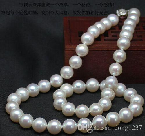 9-10mm natural south seas white pearl necklace 18inch>>> free   shipping9-10mm natural south seas white pearl necklace 18inch>>> free   shipping