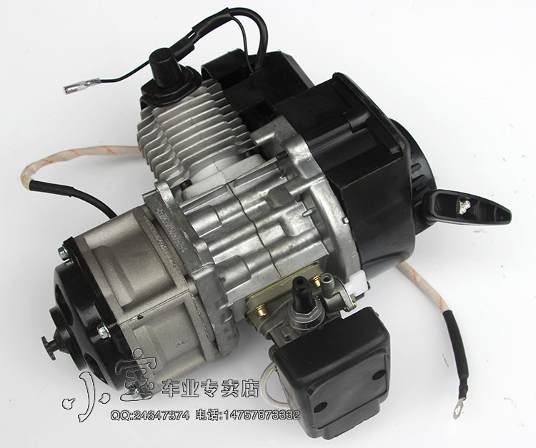 49cc 2 STROKE ENGINE with electric start+throttle cable