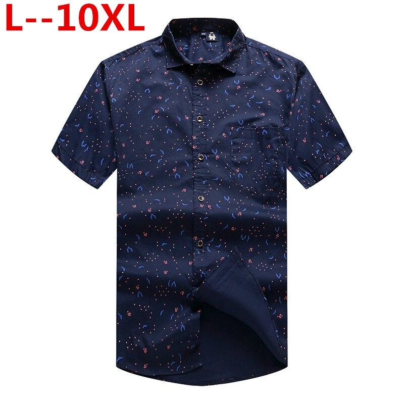8XL 6XL hommes plage hawaïenne chemise tropicale d'été à manches courtes chemise hommes marque vêtements décontracté lâche coton boutonné chemises