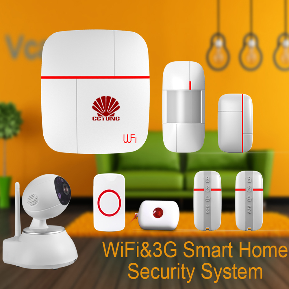 vcare wifi 3g wcdma data stream smart for home alarm system with motion door window sensor. Black Bedroom Furniture Sets. Home Design Ideas