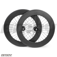 88C 700C carbon wheelset,88mm clincher/tubular, track front and rear bicycle fixed gear street bike single speed carbon wheel
