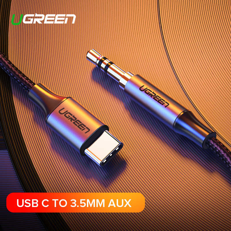 Ugreen USB C to 3.5mm AUX Headphones Type C 3.5 Jack Adapter For Huawei Mate 20 P30 Oneplus 7 pro Xiaomi Mi 6 8 9 SE Audio Cable
