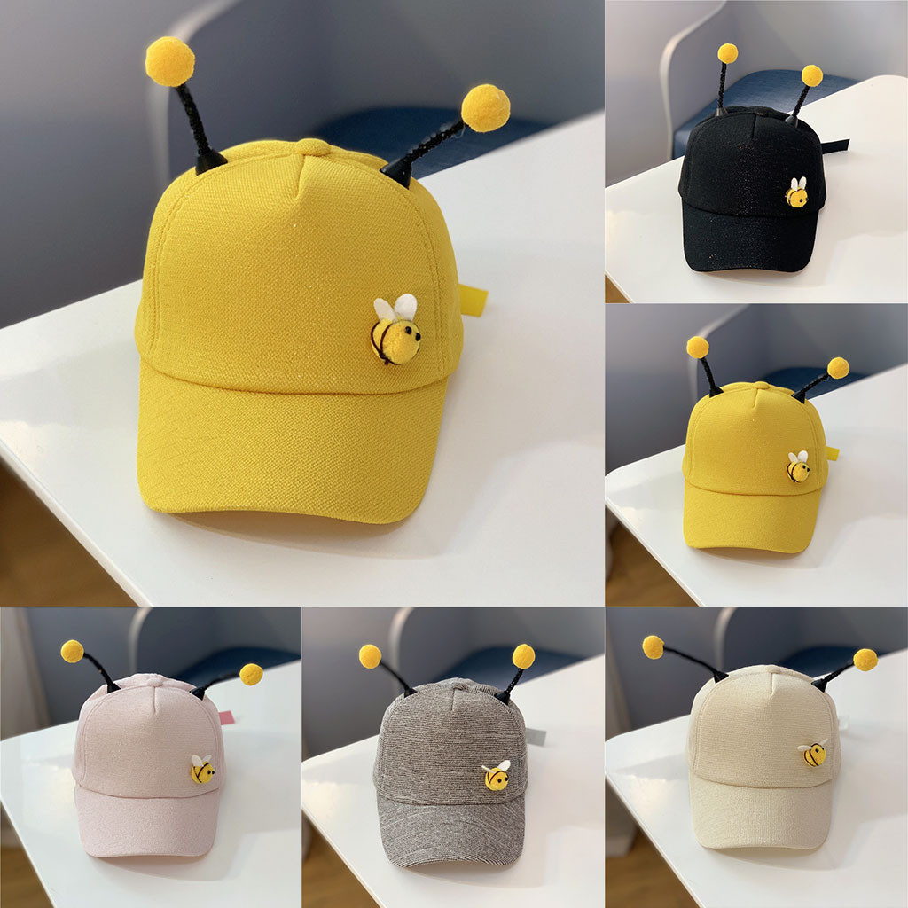 Precise Children Summer Polo Bee Cap Baseball Sun Pony Adjustable Hat Summer Childrens Duck Tongue Baseball Cap Ey28 Strong Packing Apparel Accessories