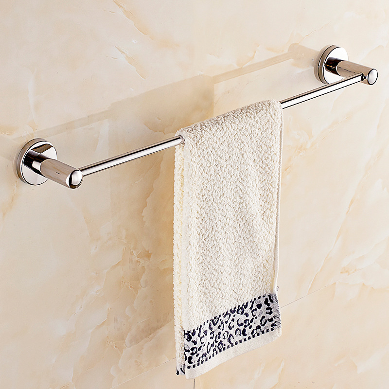 304 Stainless Steel Towel Rack Chrome Silver Bathroom Towel Rack Single Rod Wall Mount Double Towel Bar Bathroom Accessories