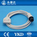 Free Shipping for 6Pin Din style 5-Lead ECG Extension cable fit for Din style leadwires,AHA/IEC,1k resistance