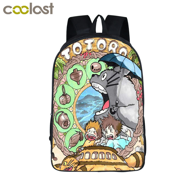 Anime My Neighbor Totoro Printing Backpack Children Schoolbags For teenager Daypacks Kids Bag Backpacks Boys Girls School Bags anime my neighbor totoro printing