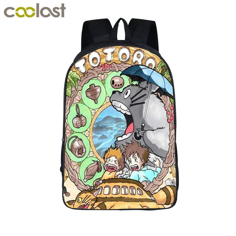 Anime mi vecino Totoro impresión mochila niños escolares Bolsas para Adolescente mochilas niños bolsa mochilas Niños Niñas Mochilas y bolsas para el colegio