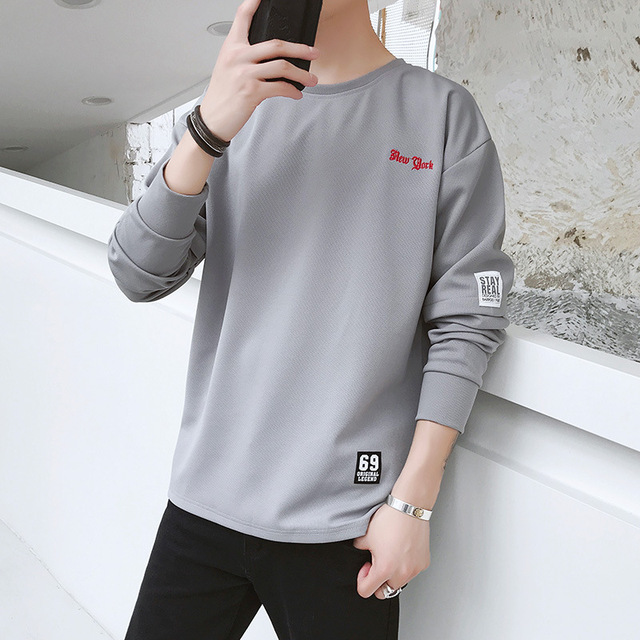 2018 Men Sweatshirt hoodies solid print loose plus size For men Sweatshirt