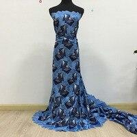 African lace fabric 2018 high quality lace cotton laces dubai Afrian Party Dress 100%cotton voile lace 027 sky 5yds/pack