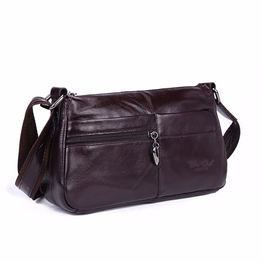 Real Genuine Leather Women Vintage Messenger Bags First Layer Cowhide Crossbody Satchel Ladies Famous Brand Sling Shoulder Bag