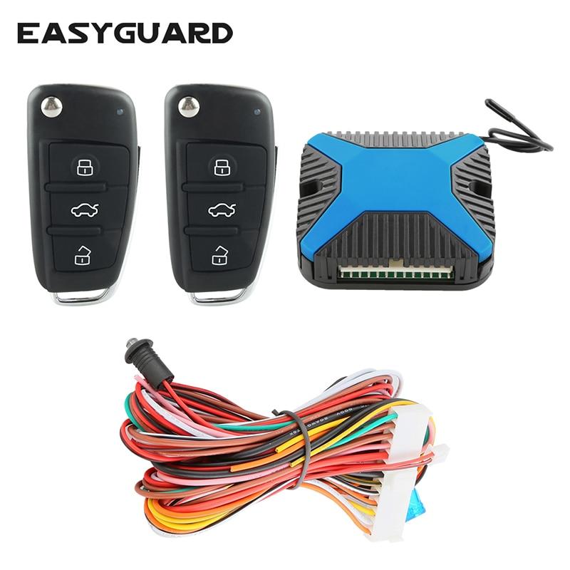 EASYGUARD Univerzális gépkocsi kulcs nélküli beléptető rendszer távoli központi ajtó reteszelés DC12V távoli csomagtartó kioldó elektromos ablakemelő