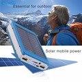 Yfw carregador solar 12000 mah banco de potência 20 pcs led lâmpadas packup bateria powerbank externo portátil para iphone samsung universal