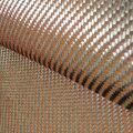 200gsm 1100D Naranja Kevlar y 3 K de fibra de Carbono de Tejido mezclado 2x2 Carbono Twill tela de fibra de Aramida Kevlar