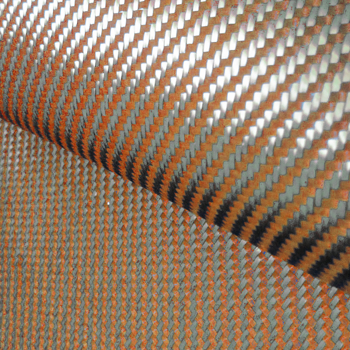 200gsm 1100D naranja Kevlar y 3K fibra de carbono tela mixta 2x2 - Artes, artesanía y costura